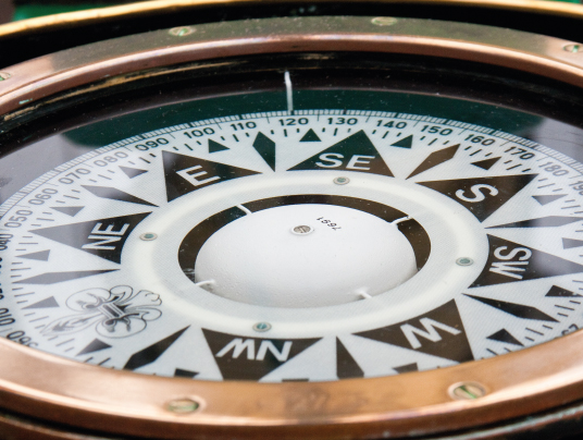 Compass close up