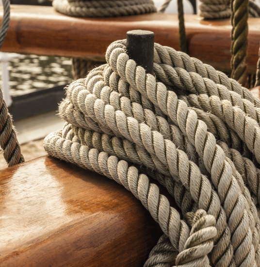 Tall ship rope detail
