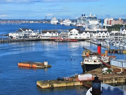 Southampton docks - Location on the Darwin200 UK Launch Voyage